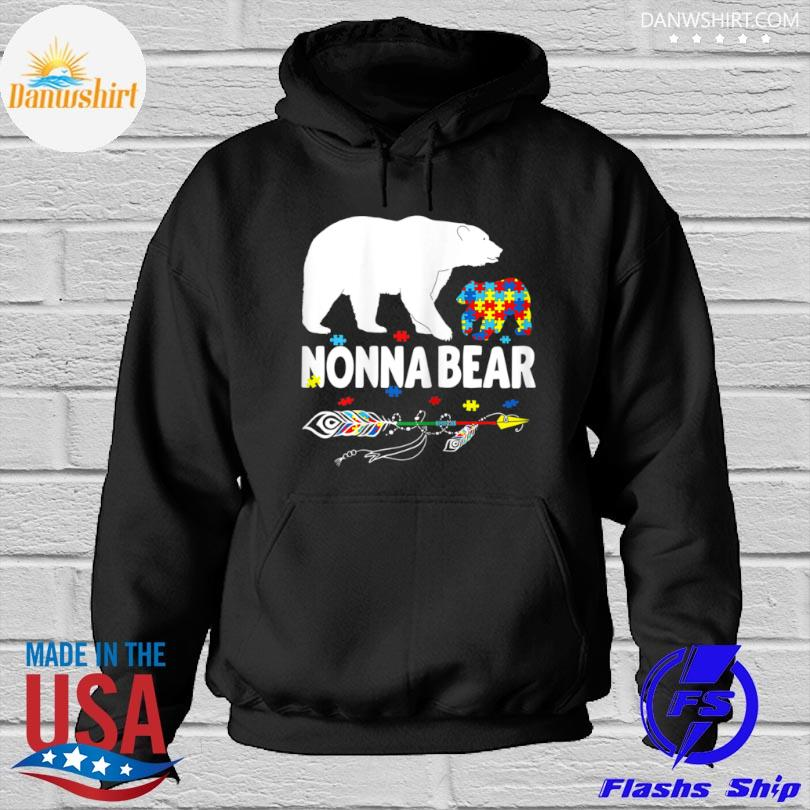 bear autism awareness mother autistic family Hoodied