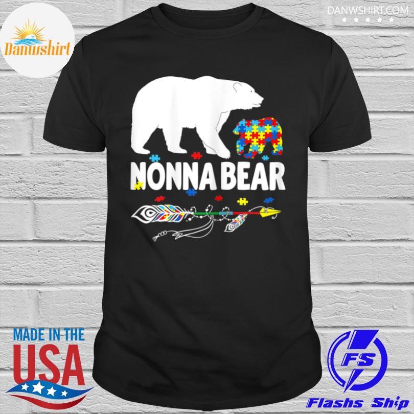 bear autism awareness mother autistic family shirt