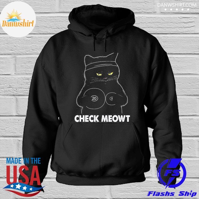 Black Cat check meowt Hoodied