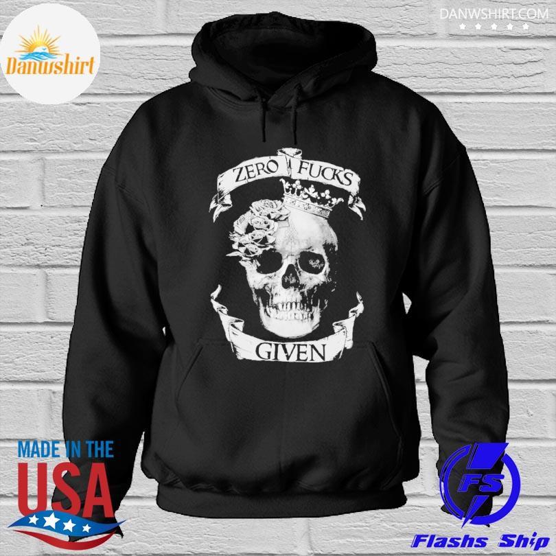 Skull zero fucks given Hoodied