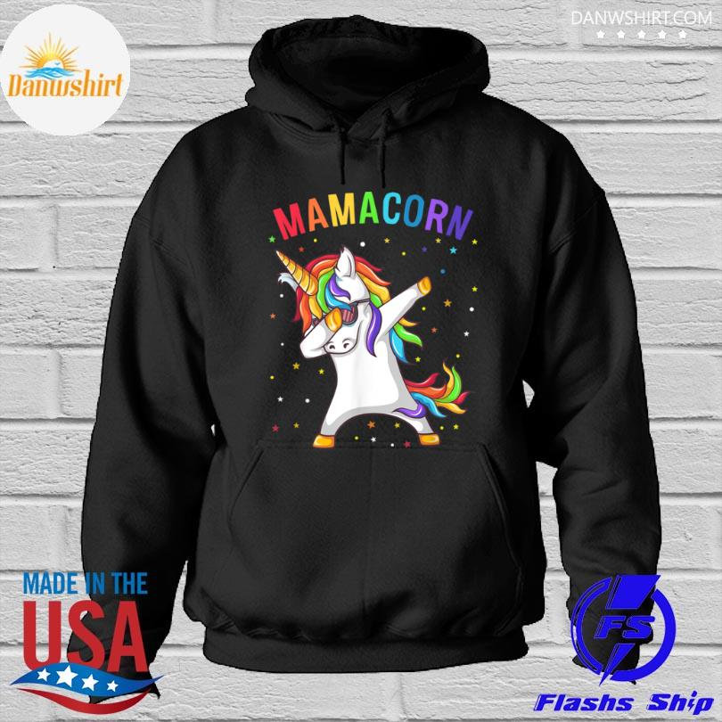 Dabbing unicorn Mamacorn happy mother's day Hoodied