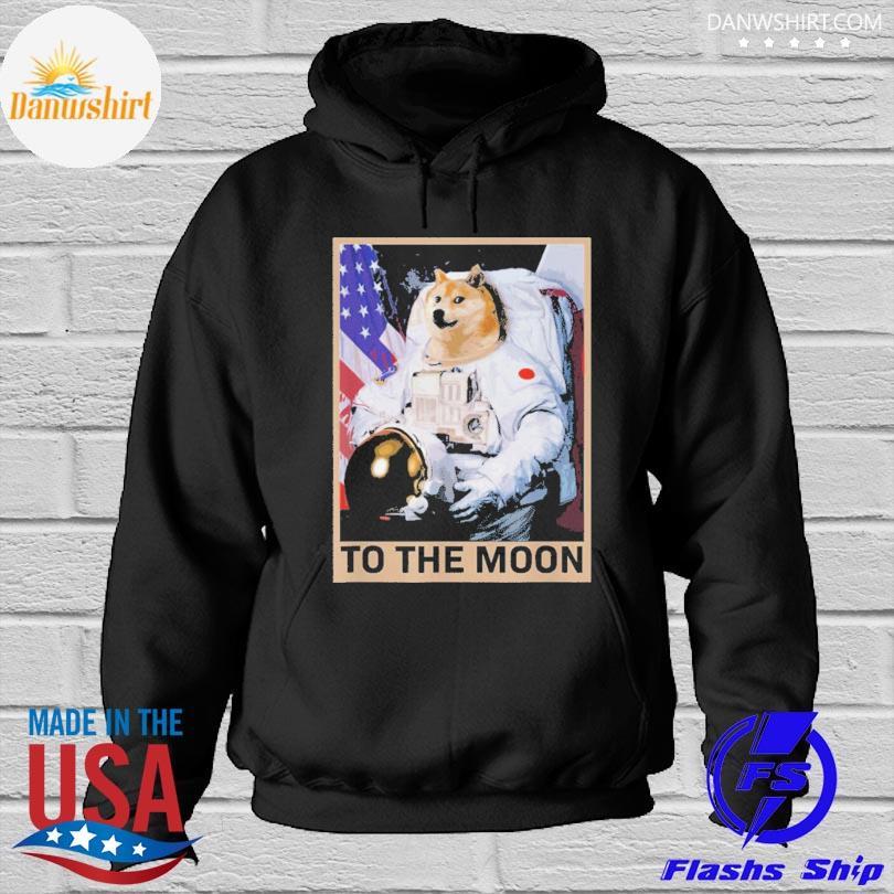 Dogecoin astronaut to the moon blockchain Hoodied