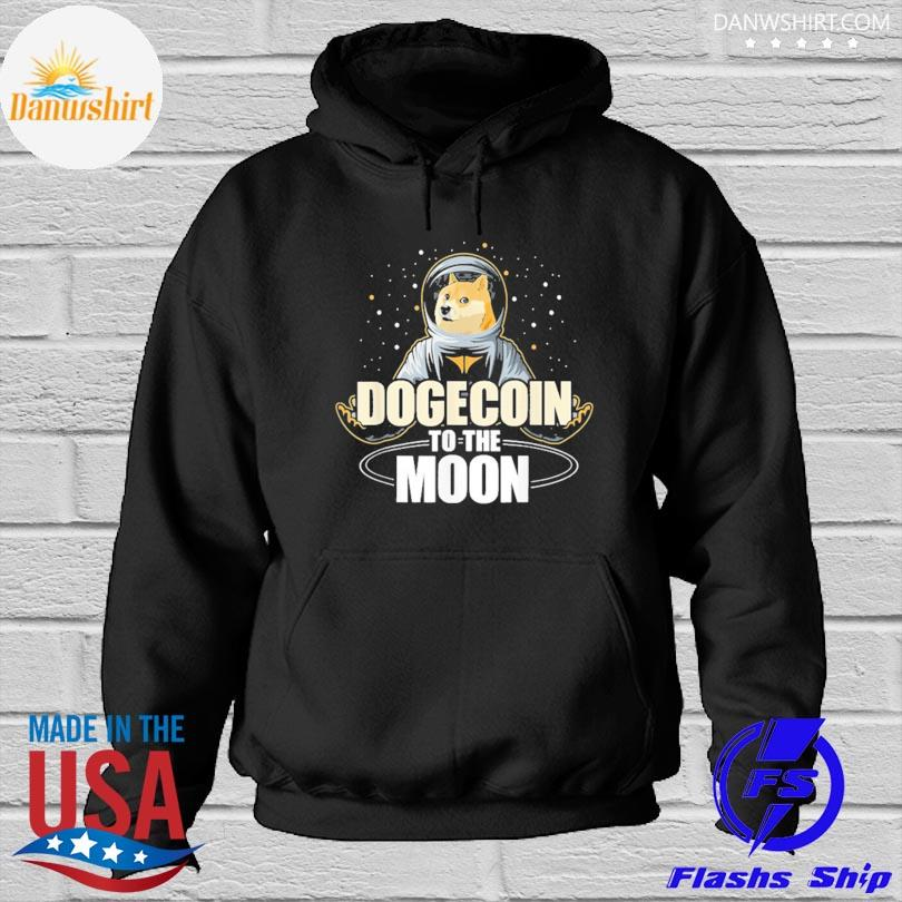 Dogecoin to the moon Hoodied