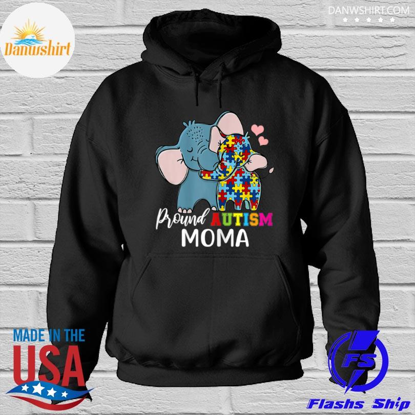 Elephant Proud moma autism awareness family mother's day Hoodied