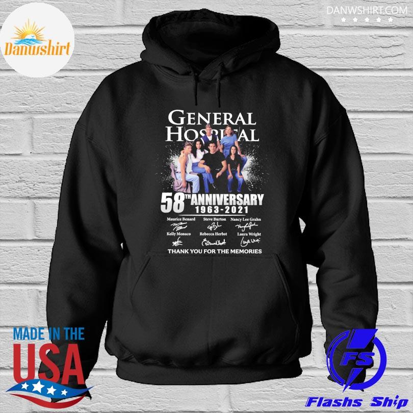 General Hospital 58th anniversary thank you for the memories signatures Hoodied