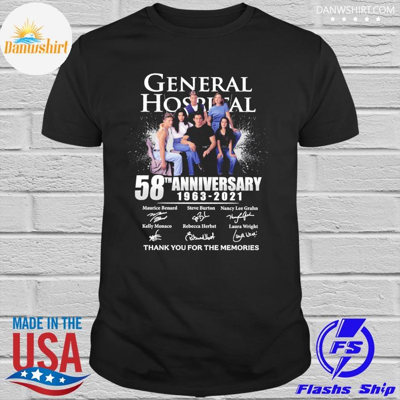 General Hospital 58th anniversary thank you for the memories signatures shirt