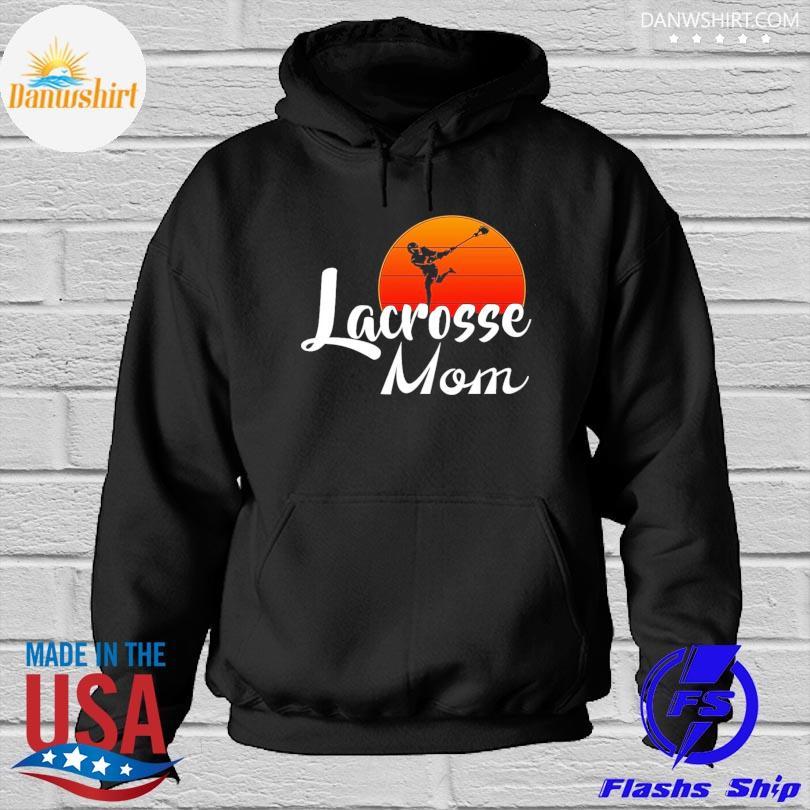 Lacrosse Mom sunset Hoodied