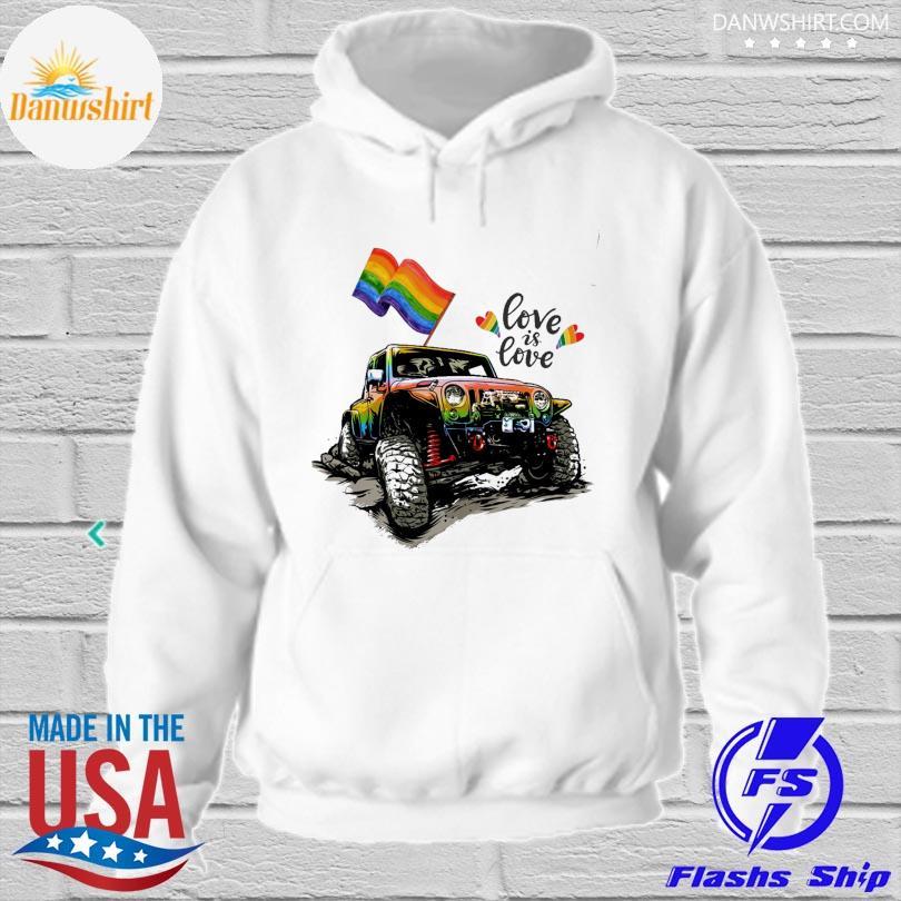LGBT Jeep love is love hoodied