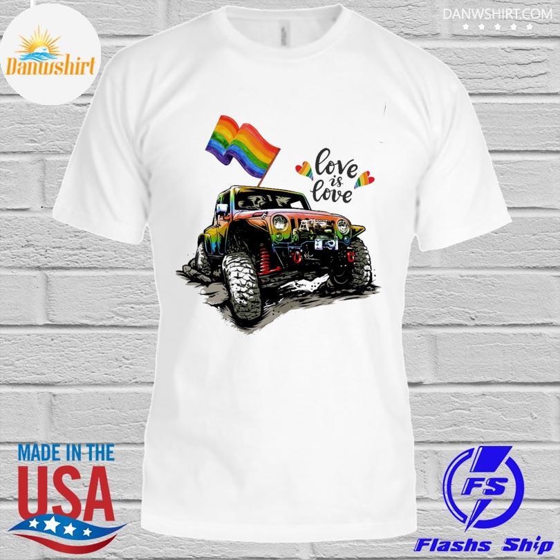 LGBT Jeep love is love shirt