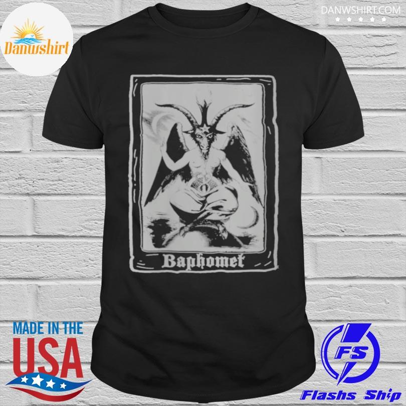 Official Baphomet shirt occult 666 tarot card satanic dark art evil shirt