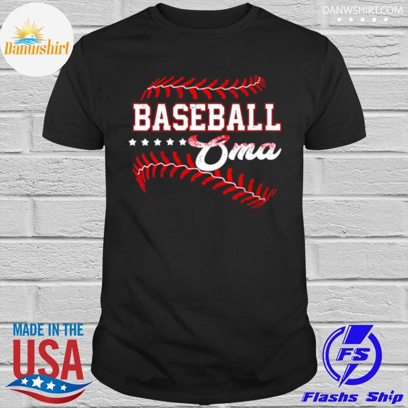 Official Baseball oma baseball oma mothers day shirt