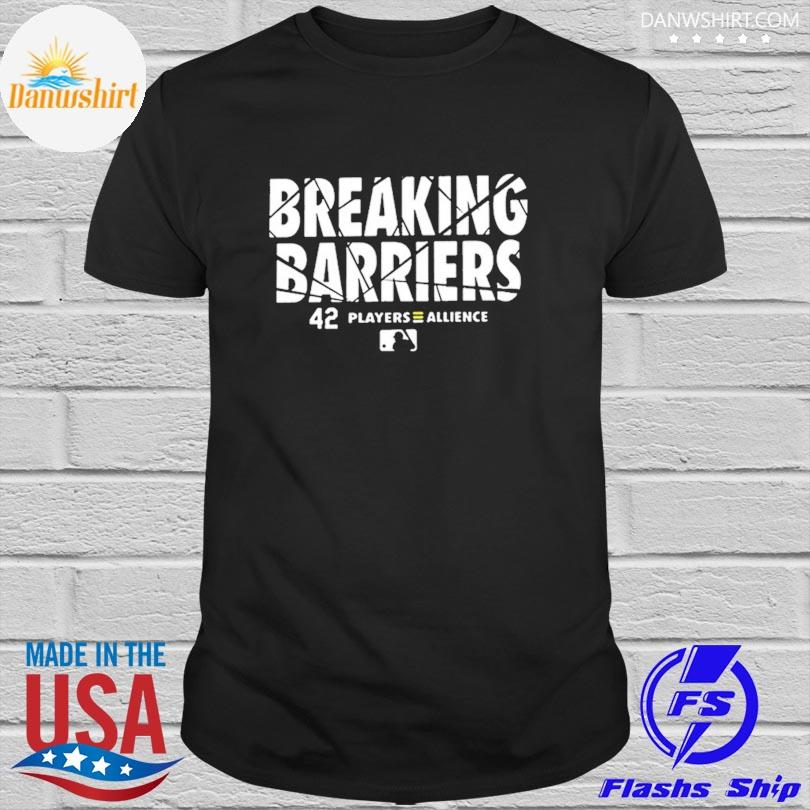 Official breaking barriers 42 players alliance mlb shirt