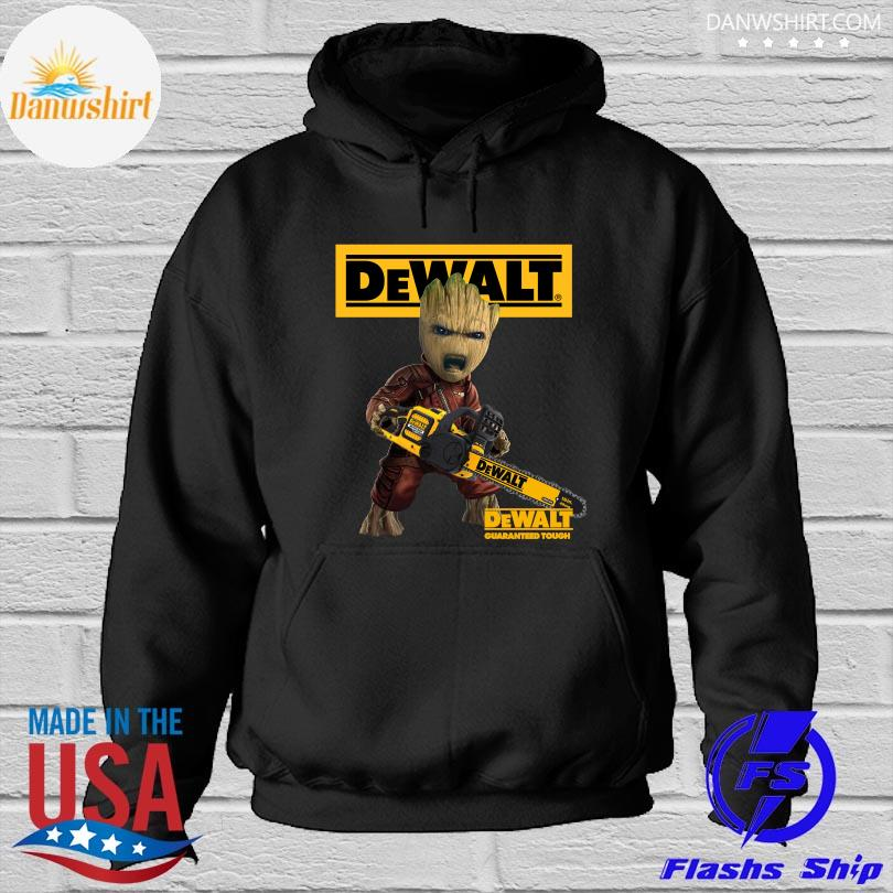 Official Groot with logo dewalt shirt. Hoodied