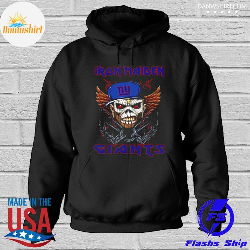 Official Iron maiden skull new york giants 2021 Hoodied
