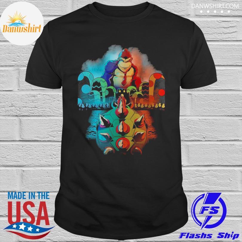 Official Koopa vs kong movie video game mashup shirt