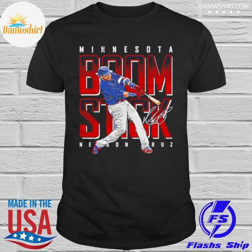 Official Minnesota baseball nelson cruz boomstick signature shirt