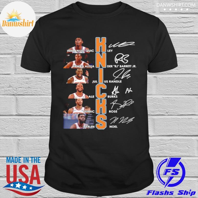 Official New york knicks team players signatures shirt