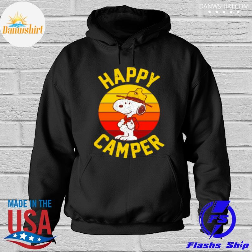 Official Snoopy happy camper vintage Hoodied