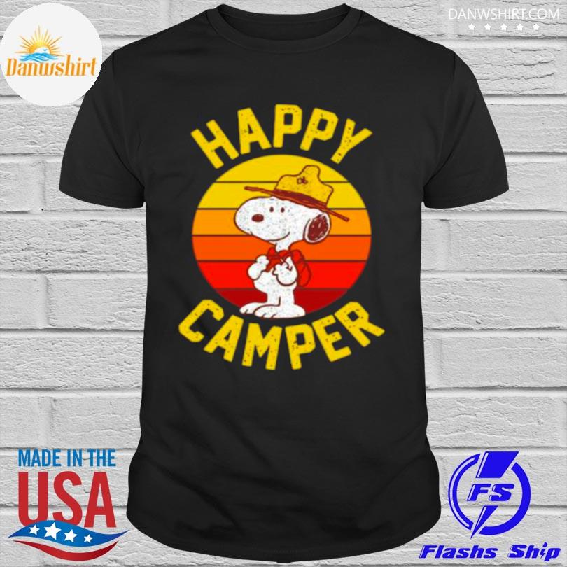 Official Snoopy happy camper vintage shirt