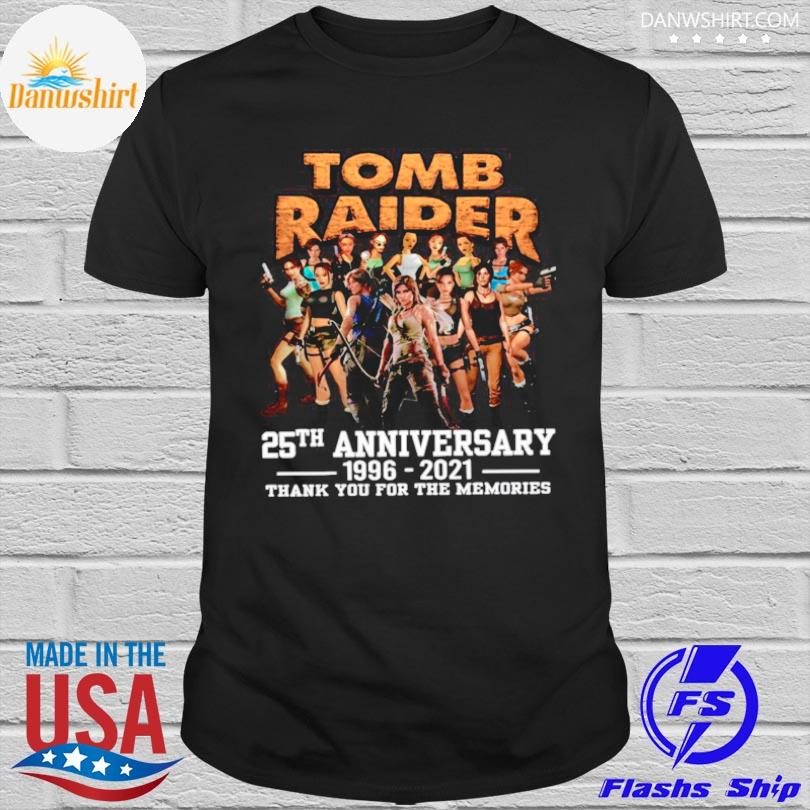 Official The tomb raider 25th anniversary 1996 2021 thank you for the memories shirt