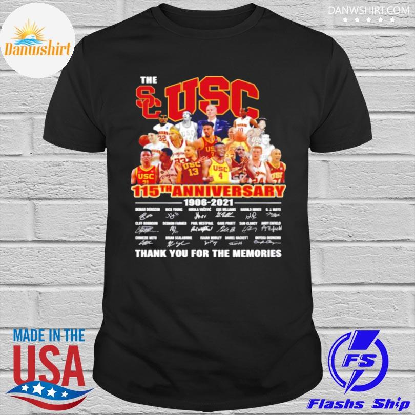 Official The usc trojans men's basketball 115th anniversary 1906 2021 thank you for the memories shirt