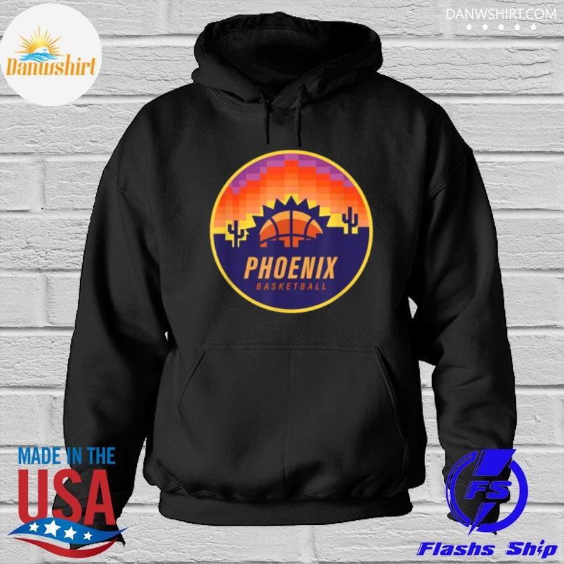 Official The valley pixel sun rise phoenix arizona basketball Hoodied