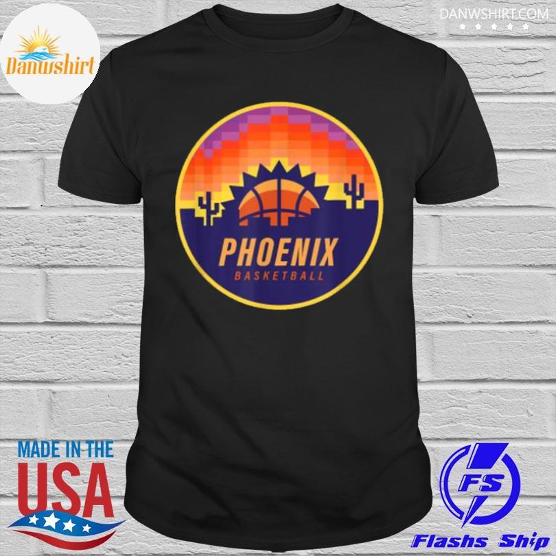 Official The valley pixel sun rise phoenix arizona basketball shirt
