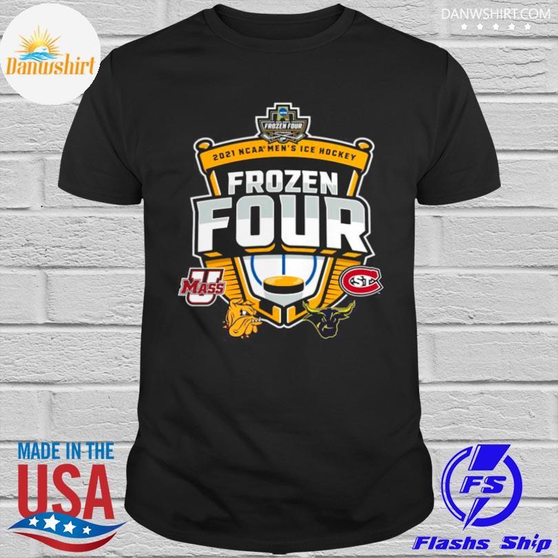 Official Umass minutemen vs st cloud state 2021 ncaa men's ice hockey frozen four shirt