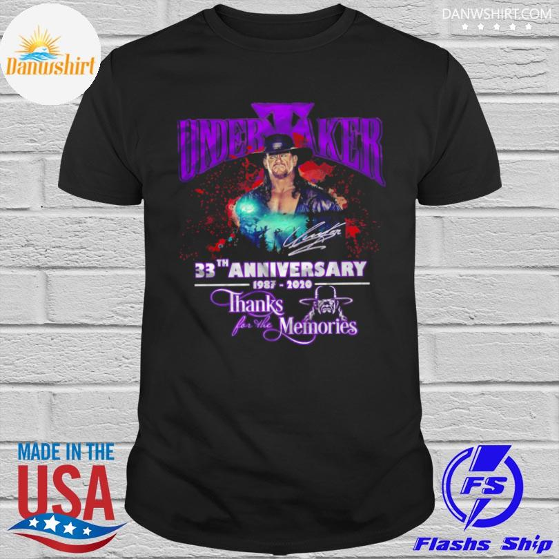 Official Undertaker 33th anniversary 1987 2021 thanks for the memories shirt