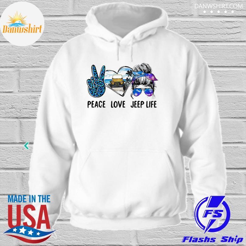 Peace love Jeep life hoodied