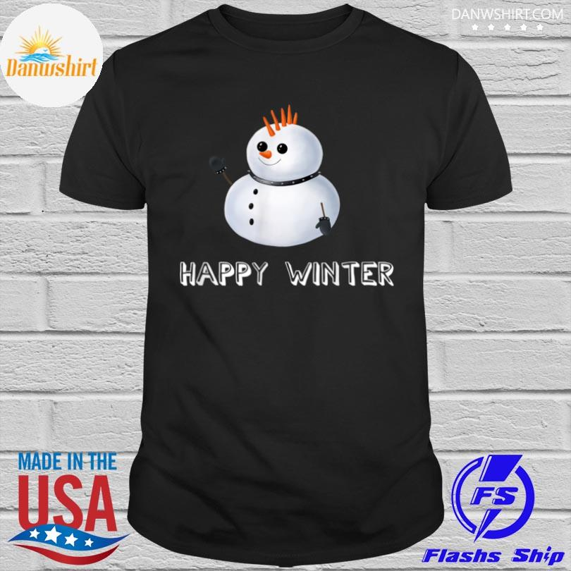 Snowman punk happy winter shirt
