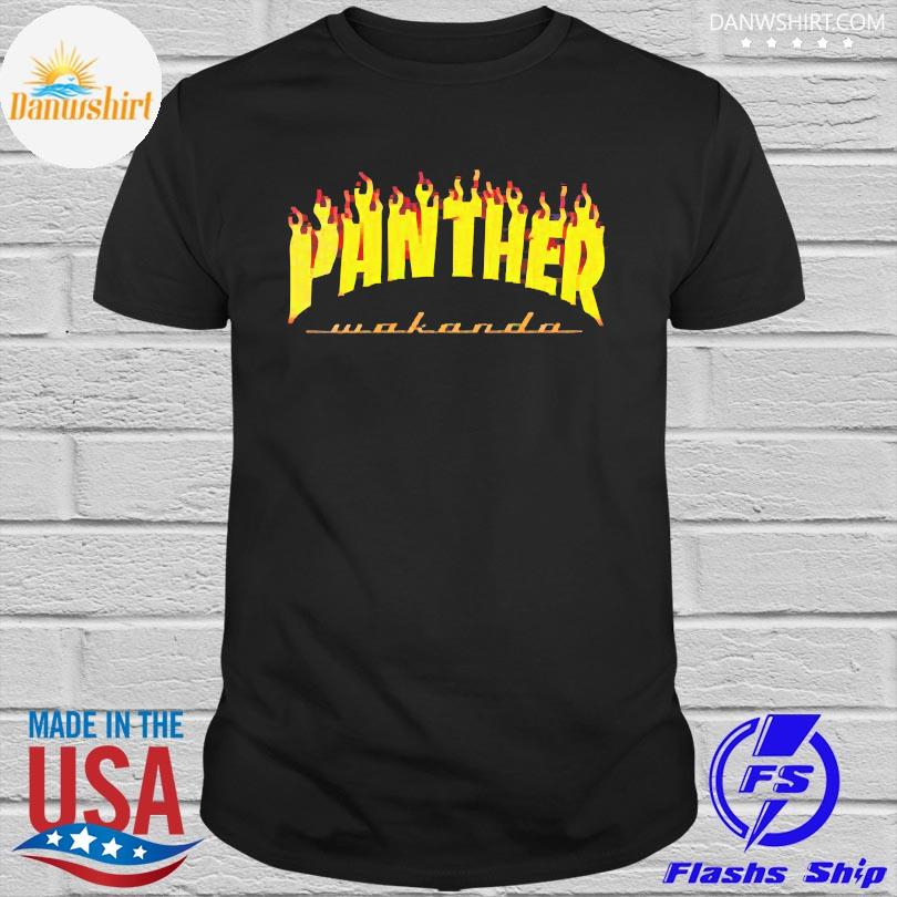 Thrasher black panther wakanda shirt