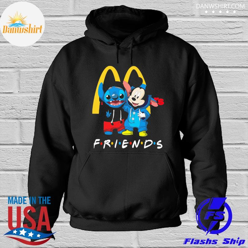 Baby Stitch and Mickey Mouse McDonald's Friends Hoodied