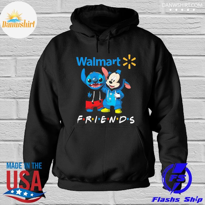 Baby Stitch and Mickey Mouse Walmart Friends Hoodied