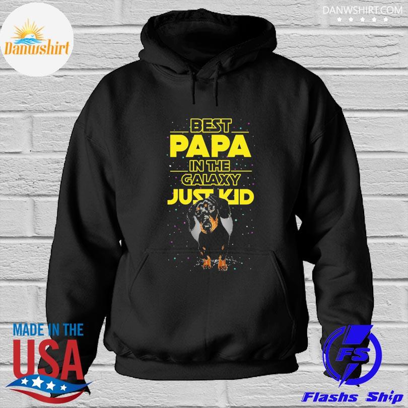 Dachshund best papa in the galaxy just kid Hoodied