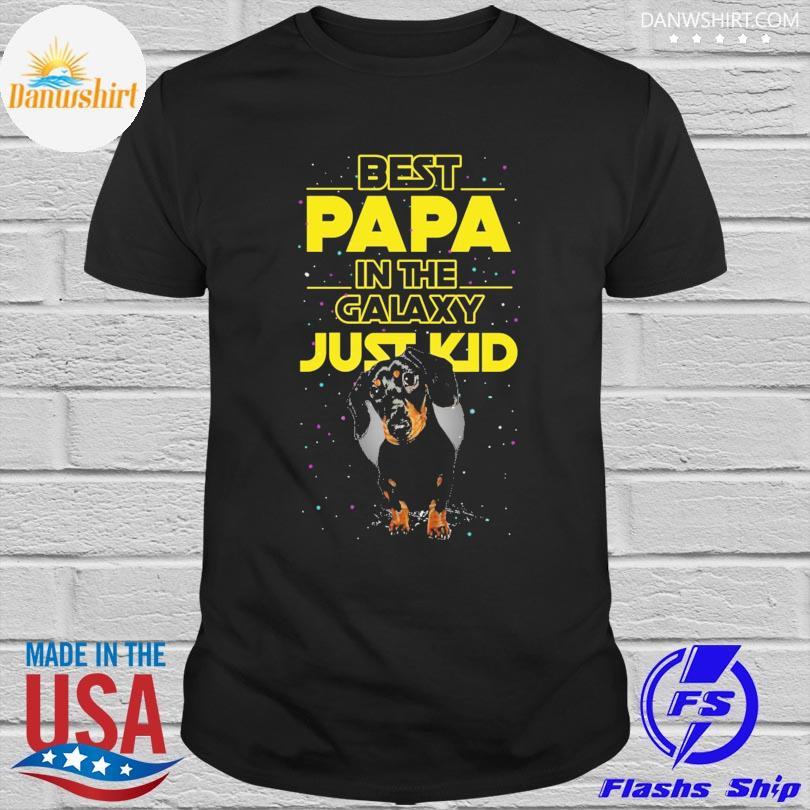 Dachshund best papa in the galaxy just kid shirt