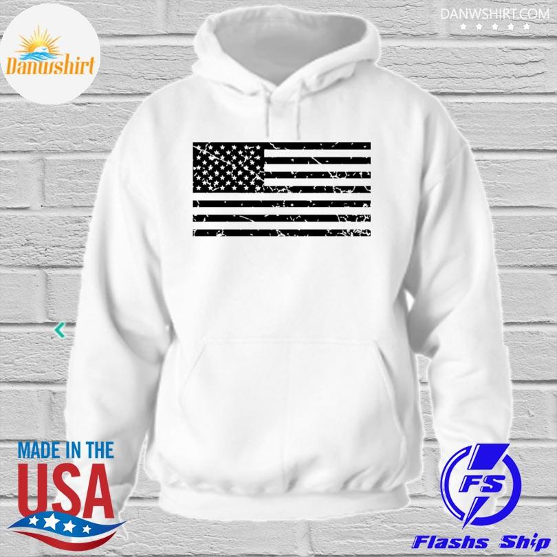 Distressed American flag hoodied