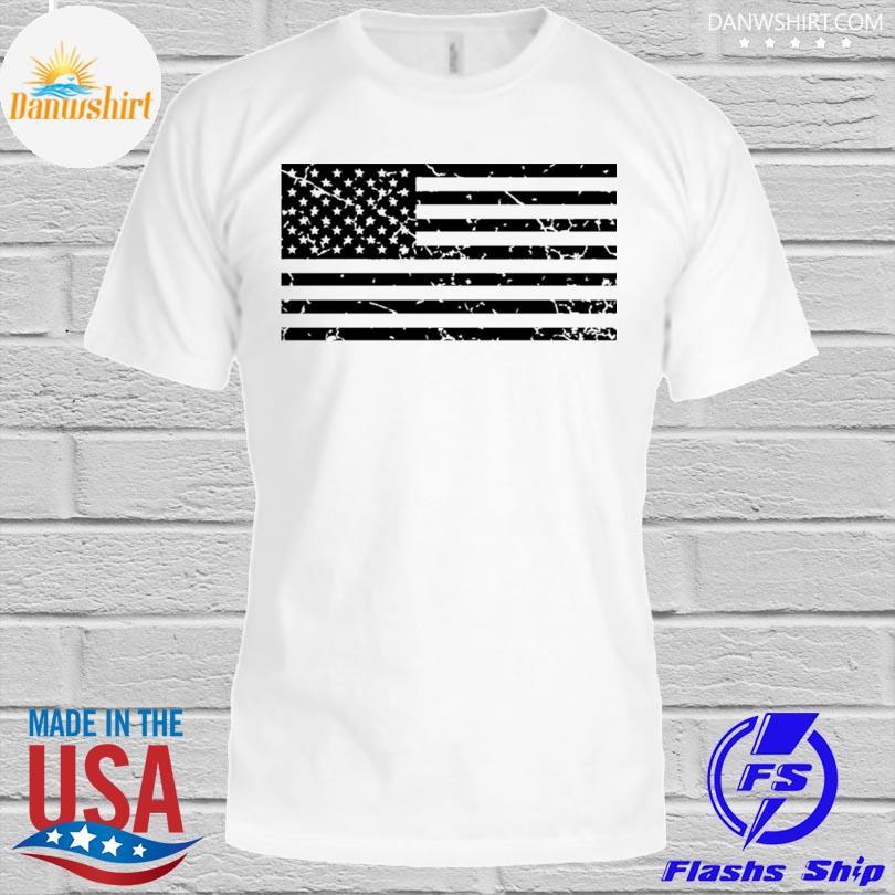Distressed American flag shirt