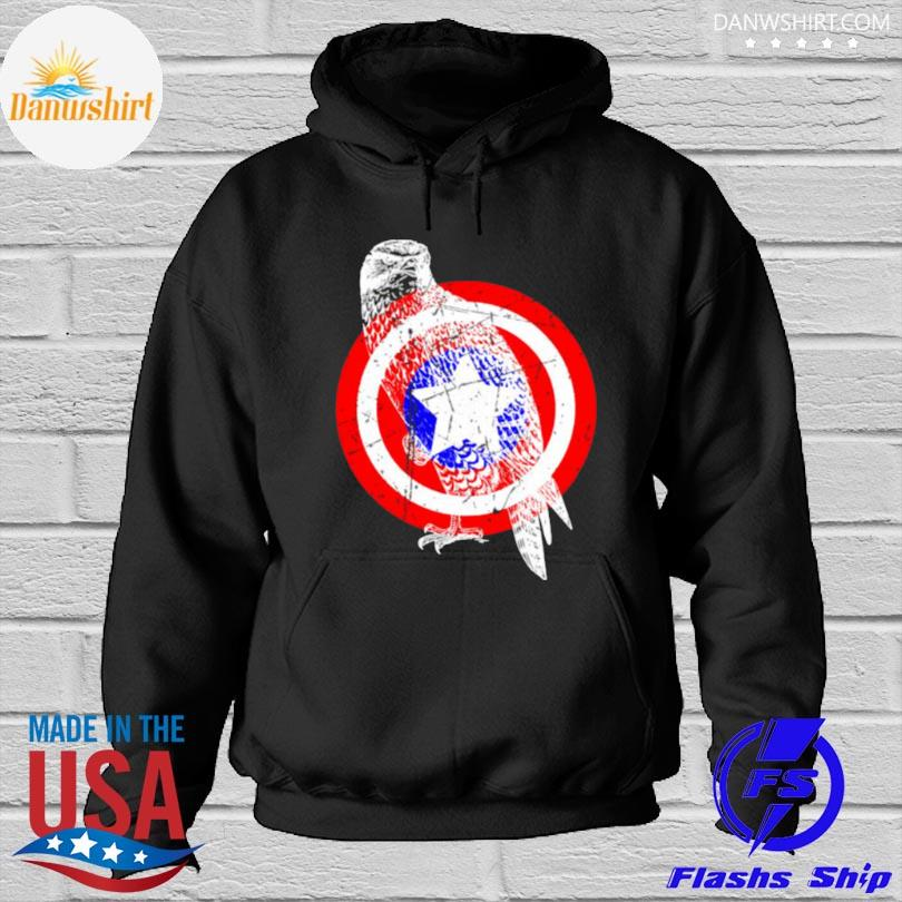 Falcon america distressed captain gear Hoodied