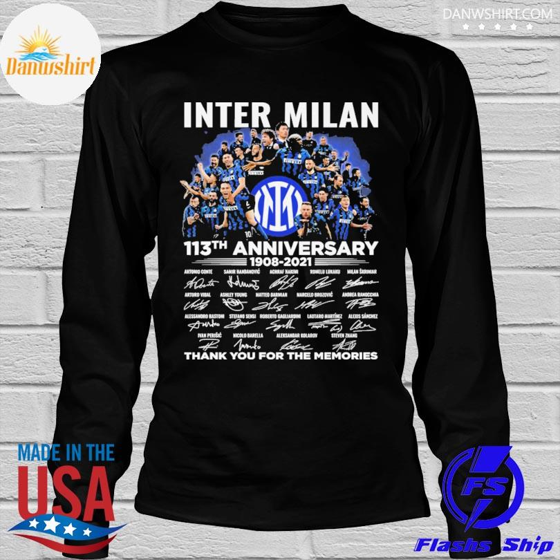 Inter Milan 113th anniversary thank you for you for the memories signatures shirt
