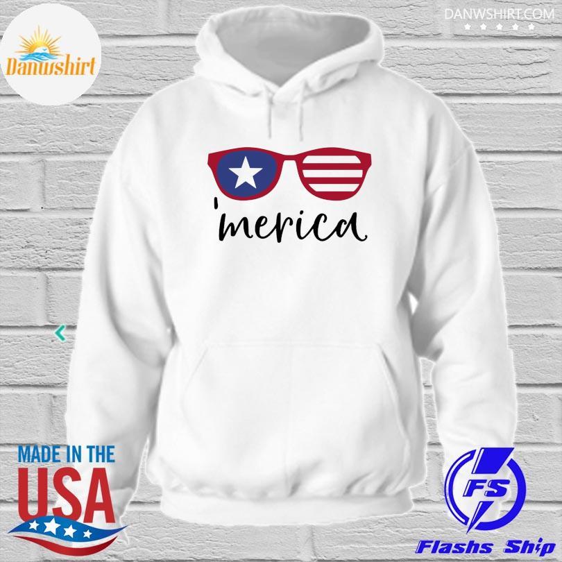Merica glasses american flag hoodied