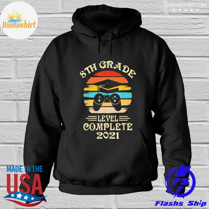 Official Gamer 8th grade graduation for girls boys 2021 vintage Hoodied