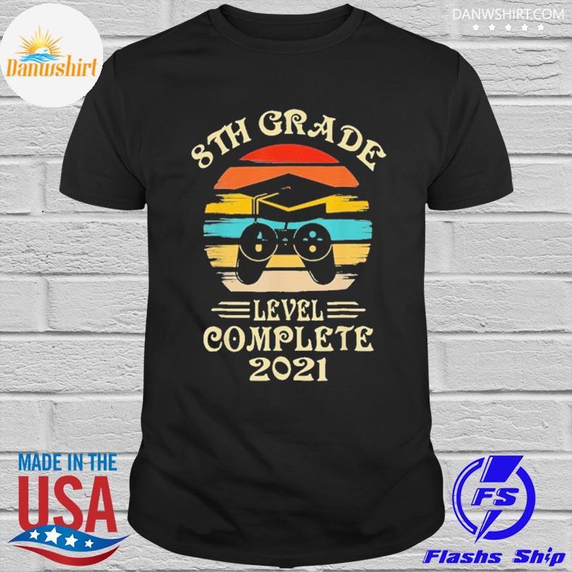 Official Gamer 8th grade graduation for girls boys 2021 vintage shirt