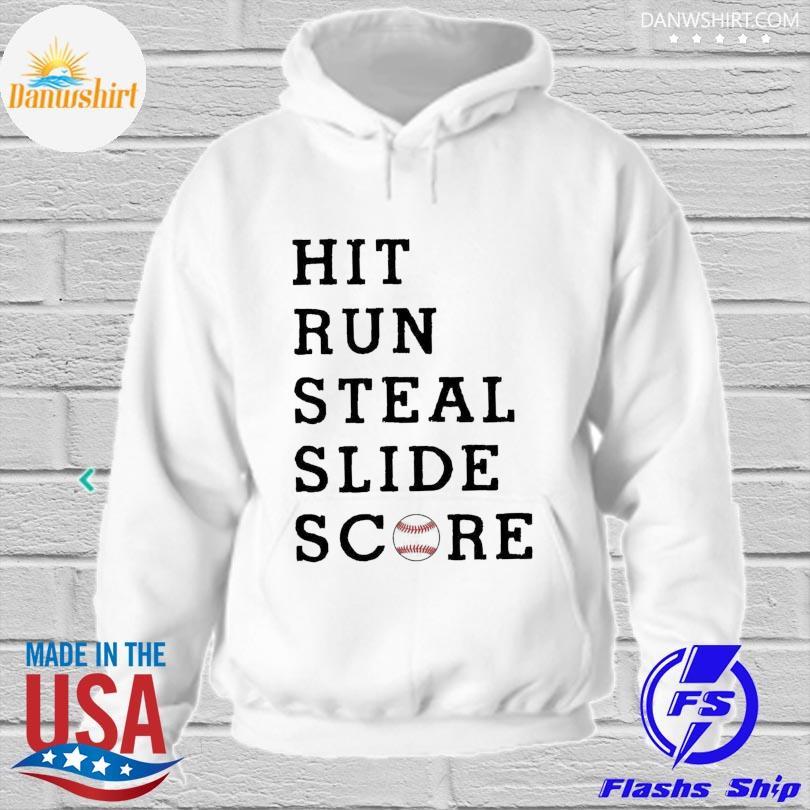Official Hit run steal slide score hoodied