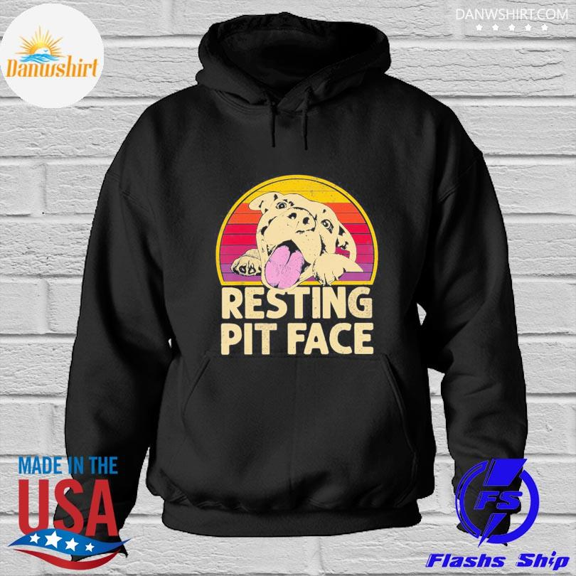 Official Resting pit face vintage Hoodied