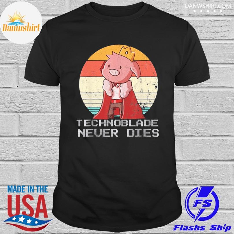 Official Retro style technoblade merch cosplay vintage shirt