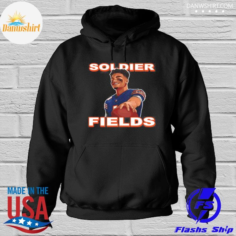 Official Soldier fields justin fields chicago bears Hoodied