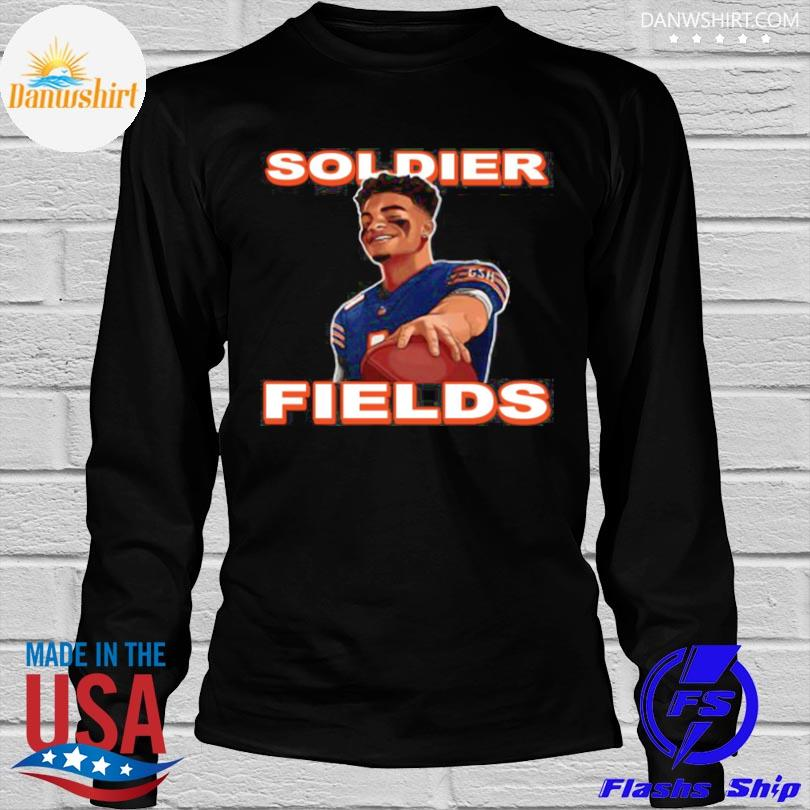 Official Soldier fields justin fields chicago bears shirt