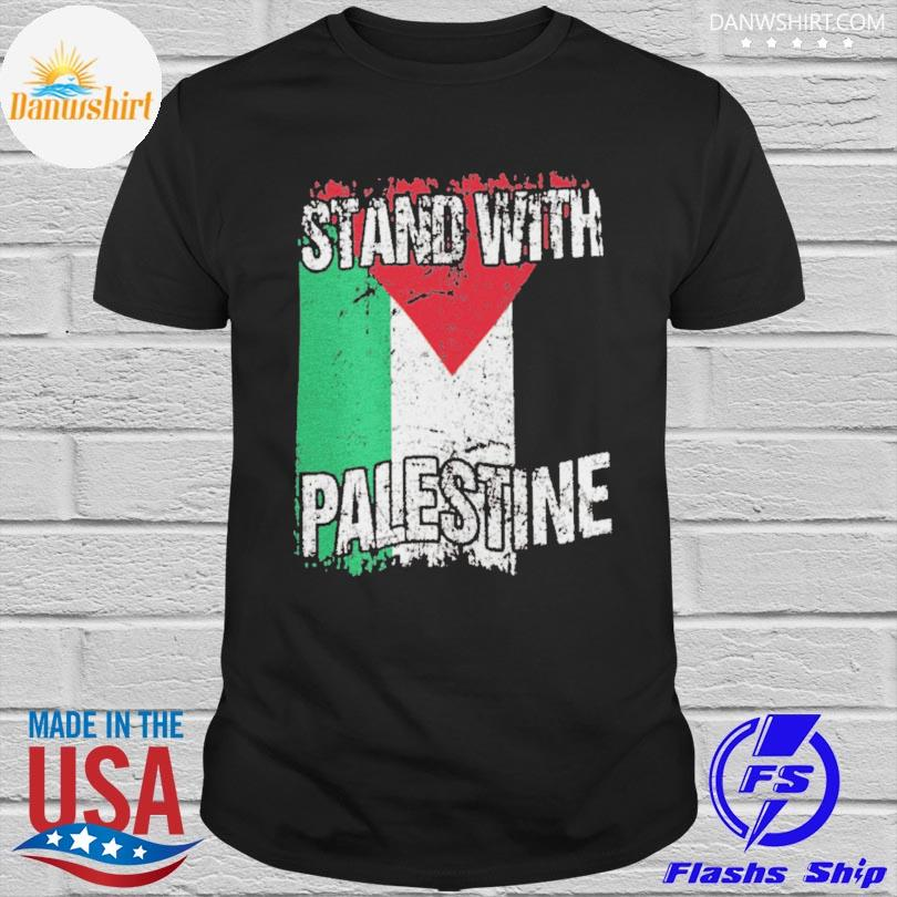 Official Stand with palestine vintage distressed palestinian flag shirt