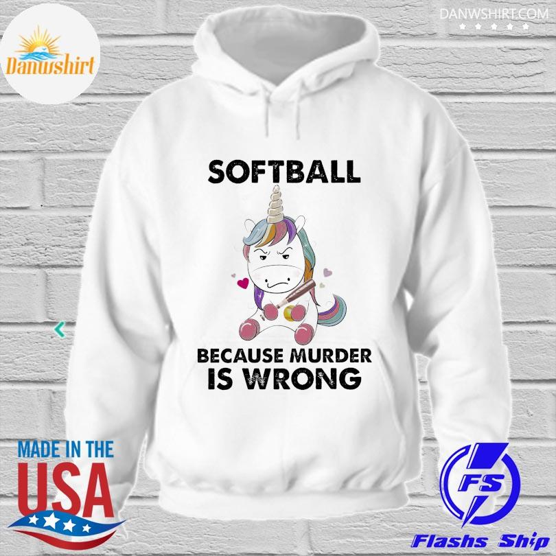 Official Unicorn because murder is wrong hoodied